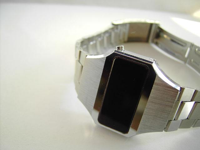 Novus LED watch in weird oblong shape
