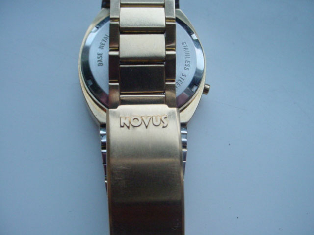 Novus 1970's classic gold LED watch