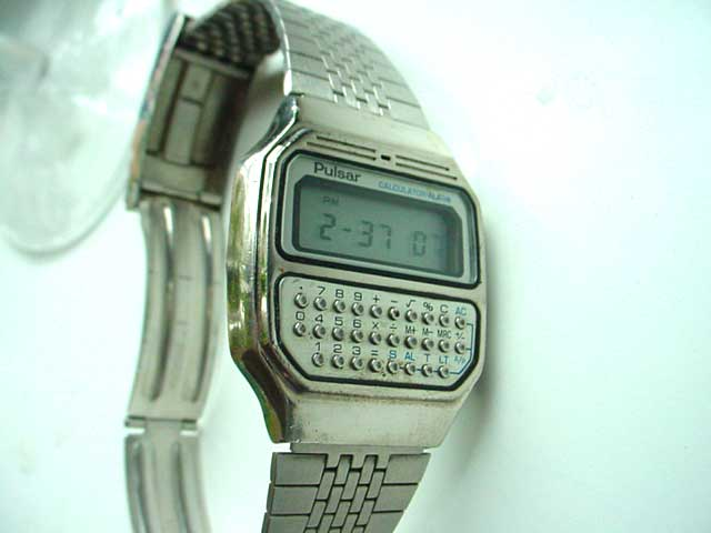 Pulsar LCD calculator watch