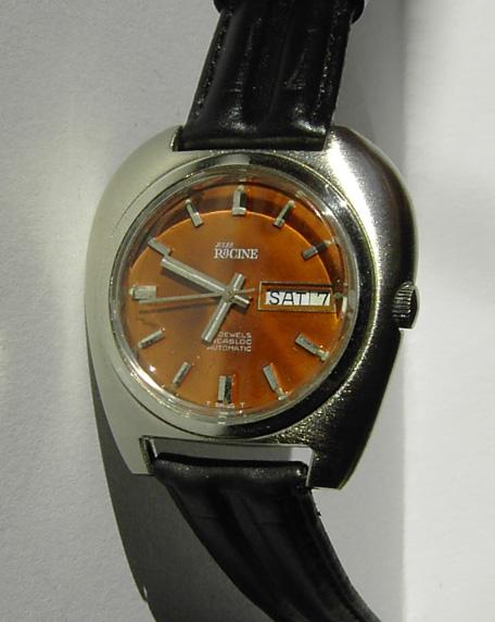 Jules Racine 1970's classic retro watch