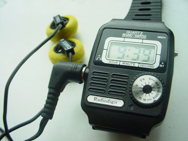 Radio watch with LCD display