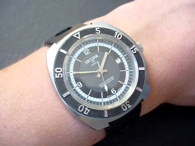 Sicura 1970's watch