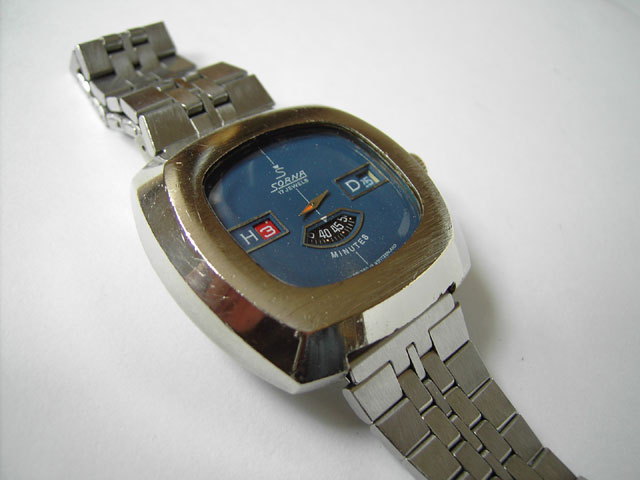 Sorna jump hour watch
