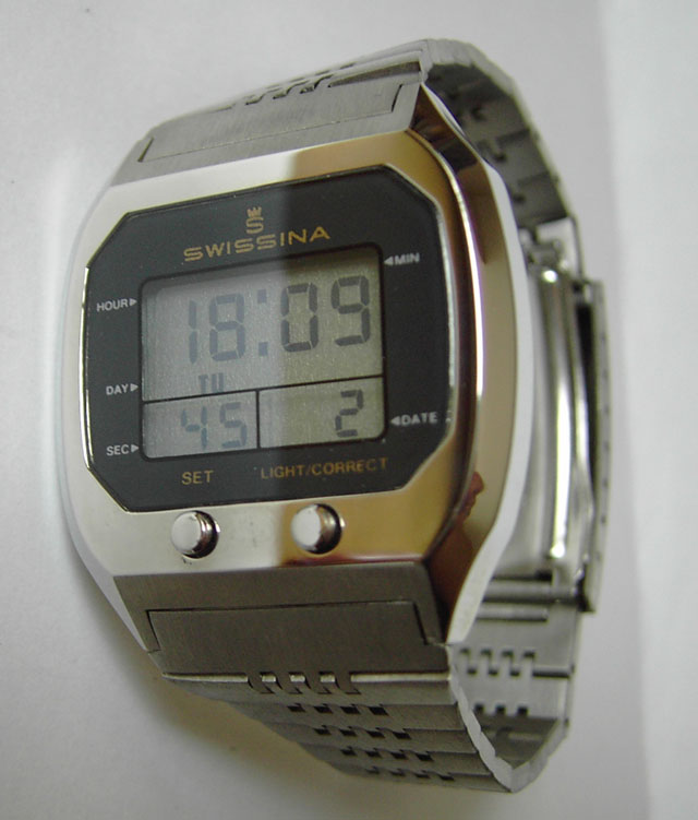 Swissina LCD classic retro watch