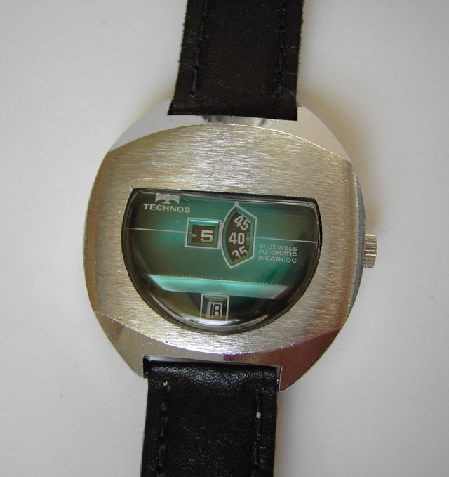Technos jump hour watch