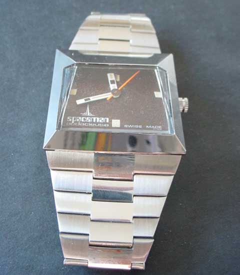 Spaceman Audacieuse watch in silver