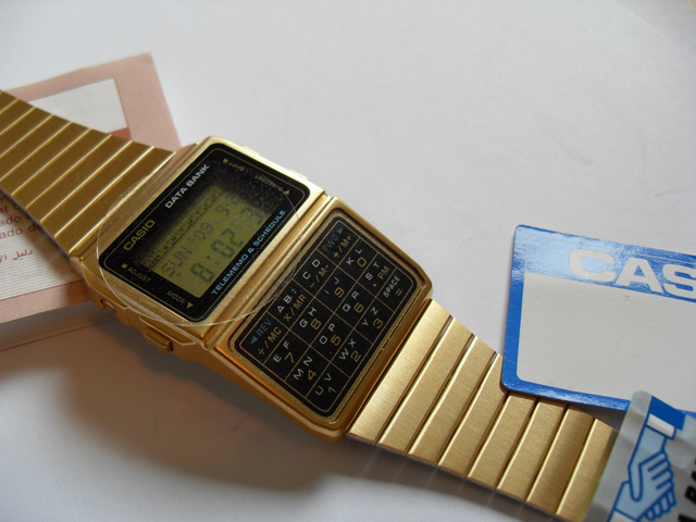 Casio Databank in gold