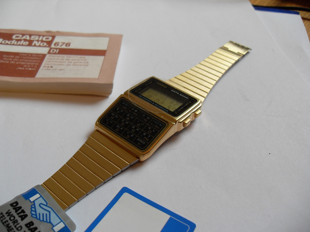 Casio databank watch in gold