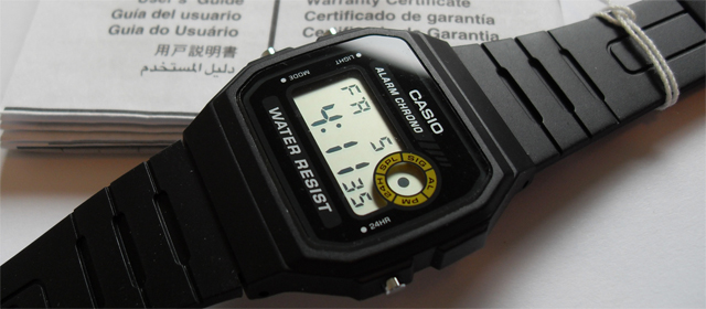 Casio black LCD watch