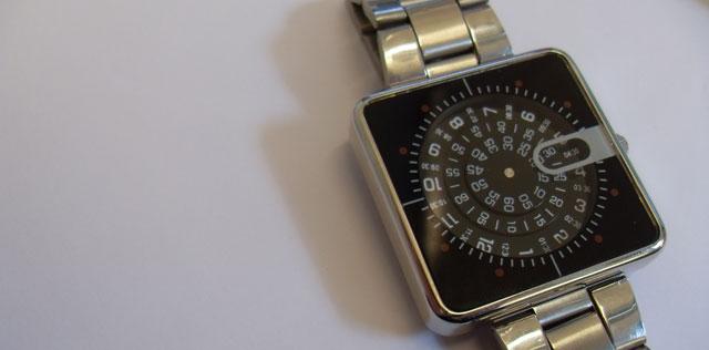Jump Hour Rotator display watch