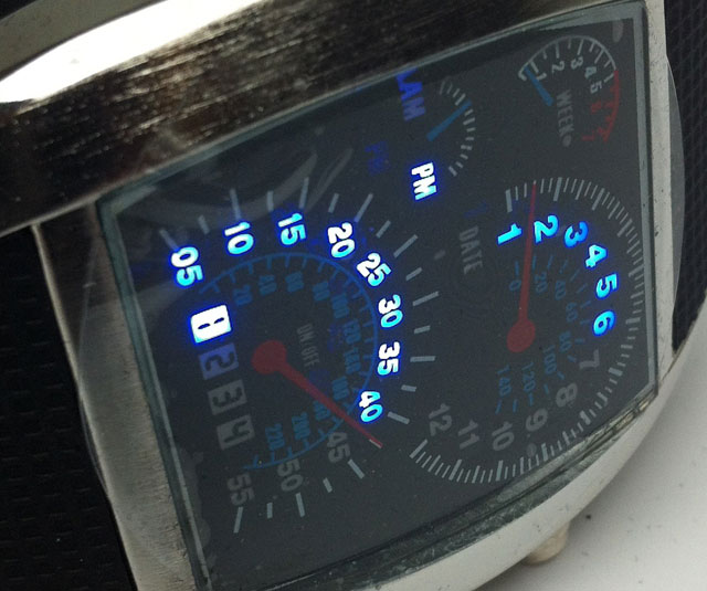 Car dashboard watch