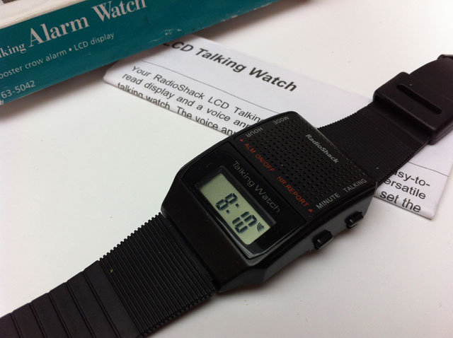 Retro talking watch