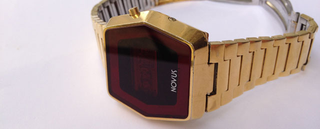 Novus LED watch in gold